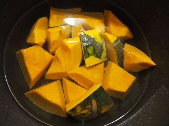 鍋のかぼちゃ