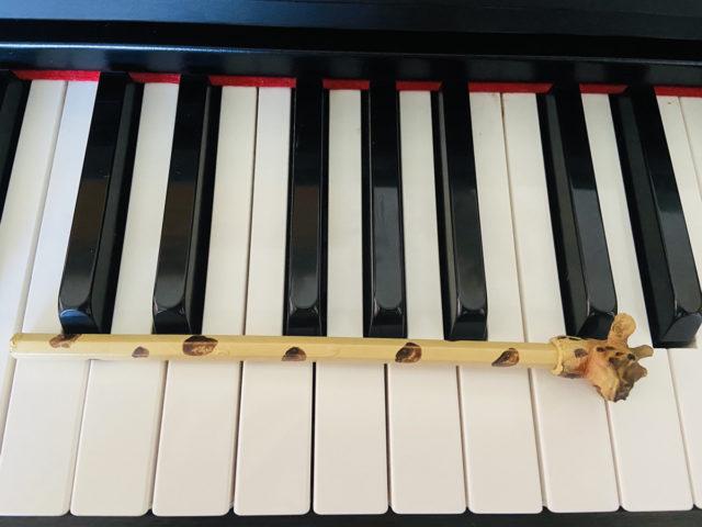 ピアノ位置上