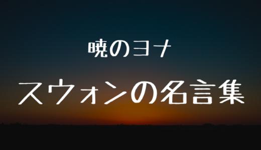 スウォンの名言・名セリフまとめ厳選8選!スウォンの真意を推察!