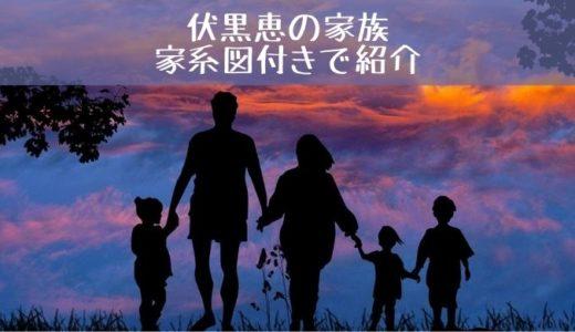 伏黒恵の母の死因は?父と2人の母と姉を家系図付きで紹介