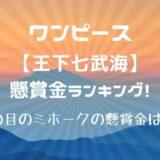 七武海懸賞金ランキング