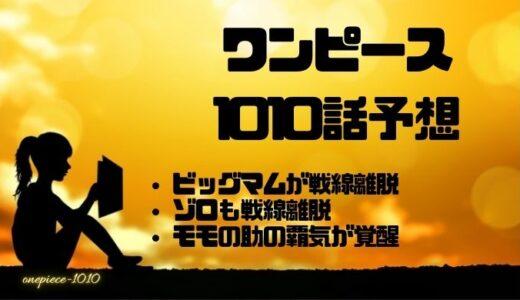 ワンピース最新1010話ネタバレ確定考察速報!ゾロが覇王色覚醒!ルフィの猛攻!!
